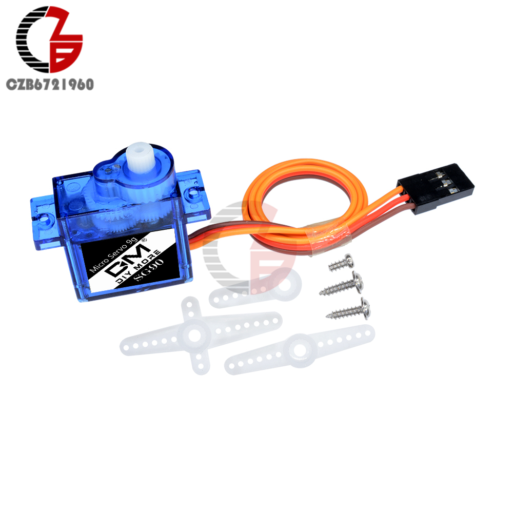 SG90 9g Mini Micro Servo High Output DC Motor Smart Electronics for Arduino Robots RC 250 450 Helicopter Airplane Car Boat DIY image