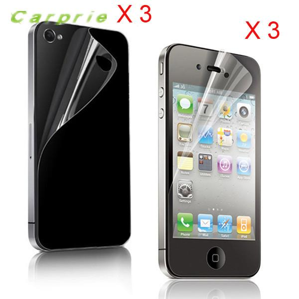 CARPRIE 3x (Front+Back) Clear Screen Protector Guard Film For iPhone 4 4G 4Sdrop shopping
