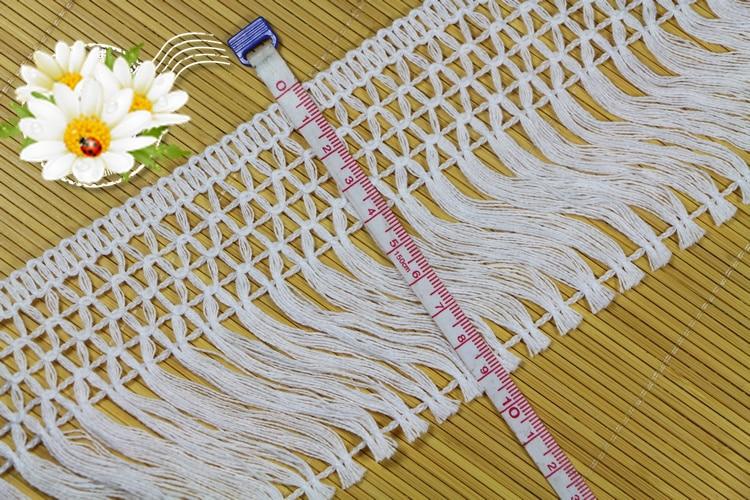 10 Yard 10 CM Breite Hallow Out Baumwolle Material Band Spitze Quaste - Kunst, Handwerk und Nähen - Foto 4