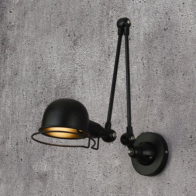 € 31.33 35% de réduction|Classique nordique loft style industriel réglable  jielde applique murale Vintage appliques murales LED pour salon chambre ...