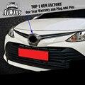 Подходит для Toyota Vios 2017 Хромированная передняя сетчатая решетка гриль бампер крышка отделка вставка капота украшение молдинг защита