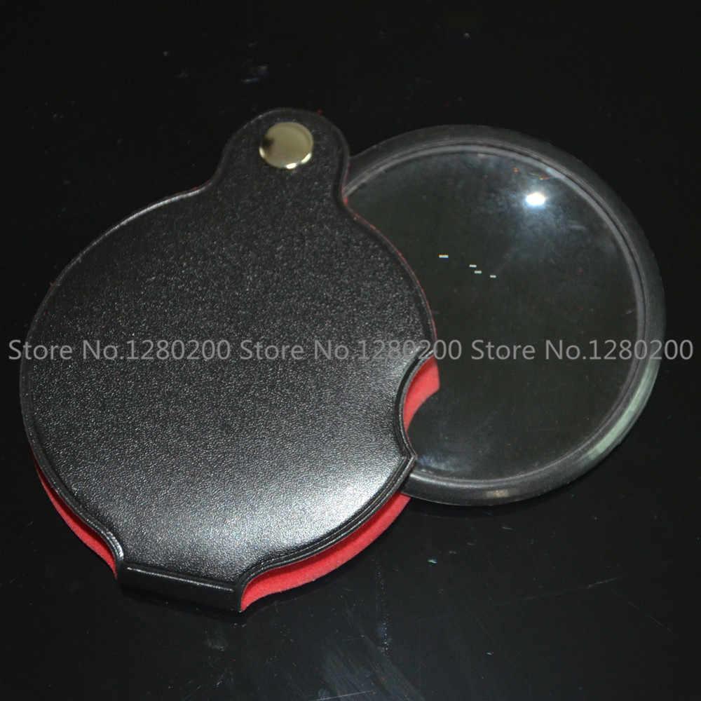 60 мм 1051 стеклянные оптические линзы складные кожаные ручные Ювелирная Лупа увеличительное стекло, лупа оптические линзы 5 шт