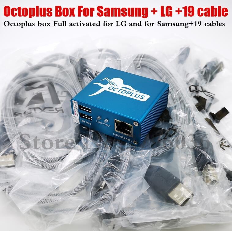 Poulpe box/Octoplus box entièrement activé pour LG et pour Samsung comprenant 19 câbles déverrouillage Flash & Repa