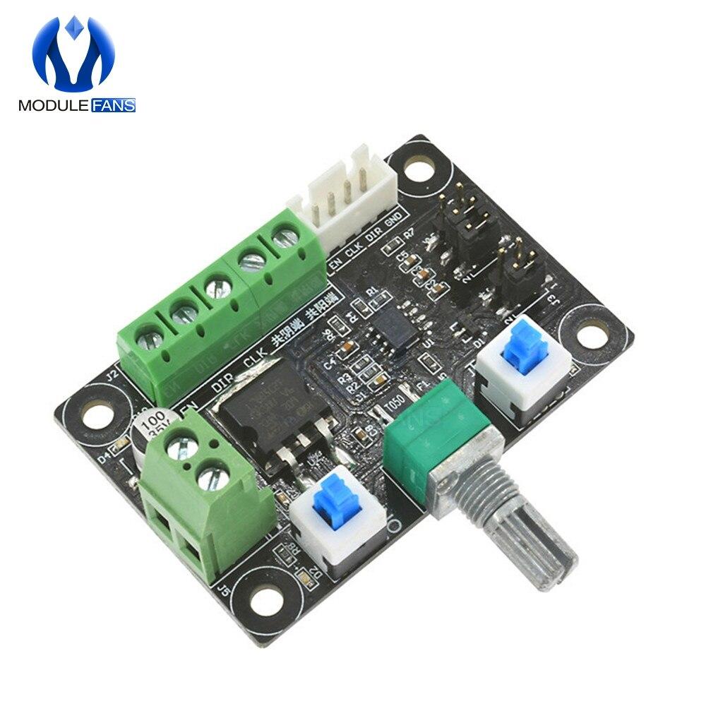 Controlador do driver de motor de passo pwm, controle de velocidade do gerador de sinal de pulso 12v-24v, placa do módulo swtich