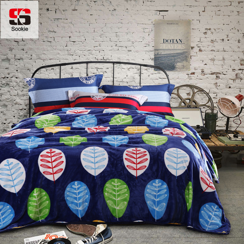 Sookie Bedspread Blanket Geometric Printed Super Warm Soft Fleece Blankets Throw Sofa Bed Travel Plaids Bed Cover Home Textile