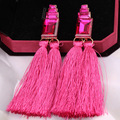 Hot sale Pretty Sexy Elegant charming shining high quality Special design Long section tassel Women earrings Best friend gift