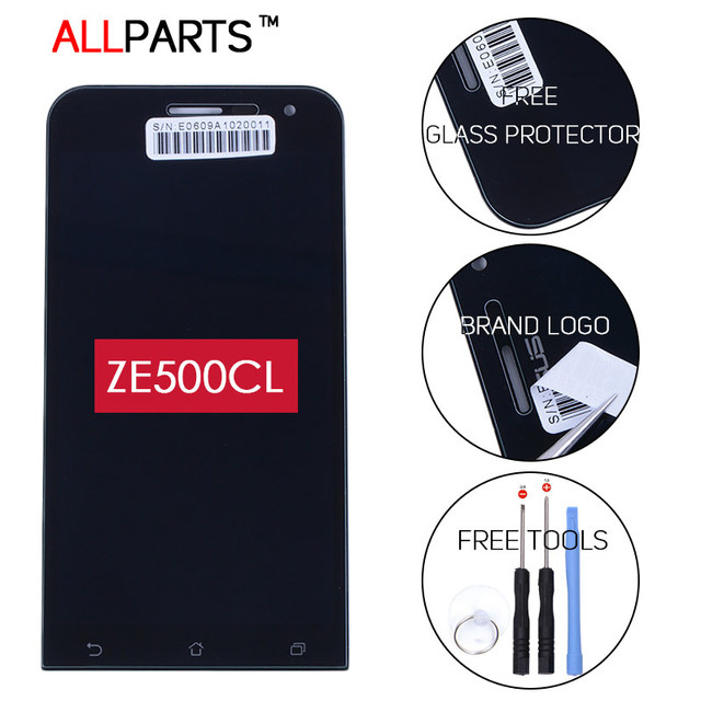 Original Black 5 inch 1280*720 LCD for ASUS Zenfone 2 ZE500CL Display Z00D Touch Screen with Frame Digitizer Replacement Part