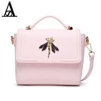 Aitesen 2017 Fashion Dragonfly Sequined Pink Girls Louis Bag Crossbody Bags For Women Famous Brands Michael