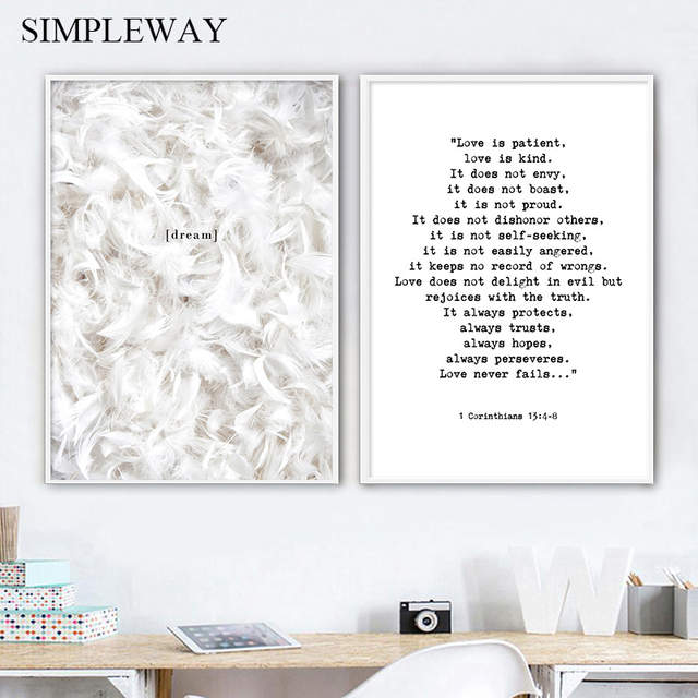 feather poster quotes nordic wall art print mini s canvas