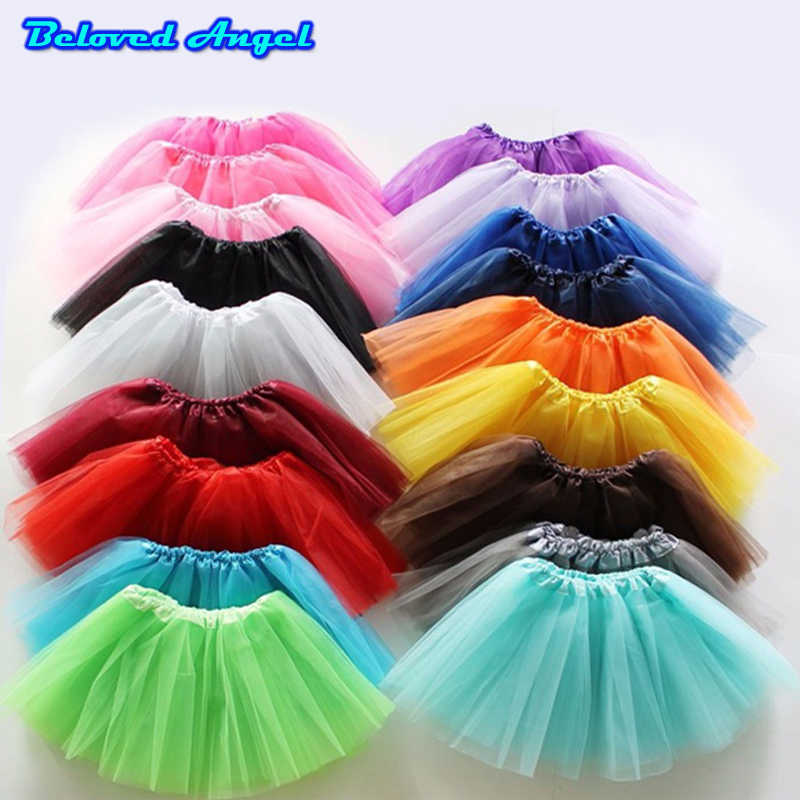 Baby Girls Tutu Skirts 2019 Fluffy 3 Layer Of Gauze Pettiskirts Tutu Skirts Children Girls Princess Dance Party Tulle Skirts