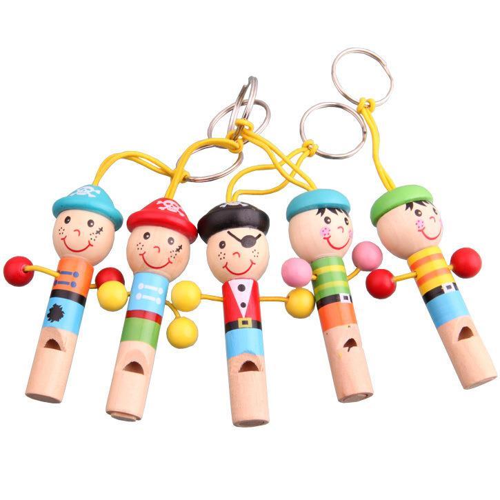 Мини ребенок Деревянный ребенок мультяшный свисток животное образовательный музыкальный инструмент, игрушка