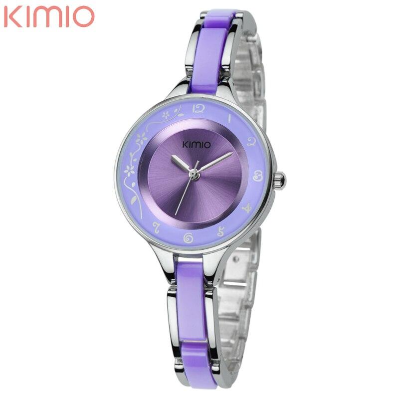 New Original Brand KIMIO Lady Fashion Bracelet Watch Japan Quartz with Female Hours Women Casual Watch