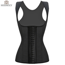 Miss Moly Latex Hot Body Shaper Butt Lifter Slimming Underwear Belt Waist Shaper Corsets Latex Waist Trainer Corset Underbust