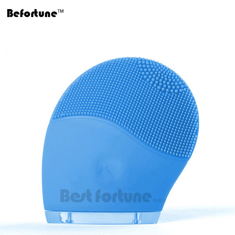 Befortune Electric Face Cleanser Vibrate Waterproof Silicone Facial Cleansing Brush Facial Massager Skin Care Spa Massage electric face massager remove blackhead waterproof deep cleansing brush silicone face cleanser facial cleansing instrument