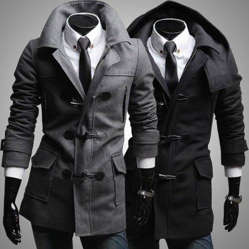 Popular Hooded Wool Coats Men-Buy Cheap Hooded Wool Coats Men lots ...