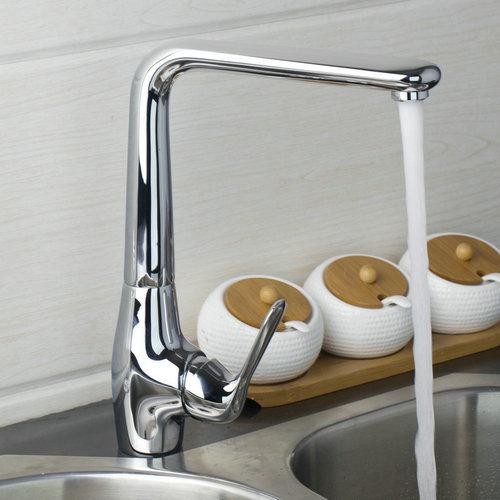 Best Soild Brass Single Handle Swivel 360 Chrome 92362 Sink Single Handle Water Kitchen Torneira Vessel