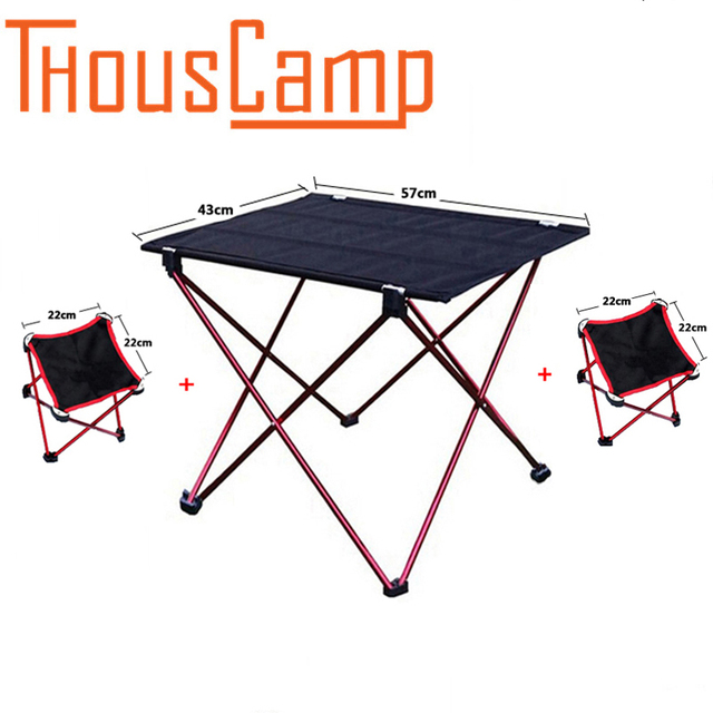 Outdoor Large Folding Table Ultra Light Aluminum Structure Portable Camping Tables And Chairs Picnic