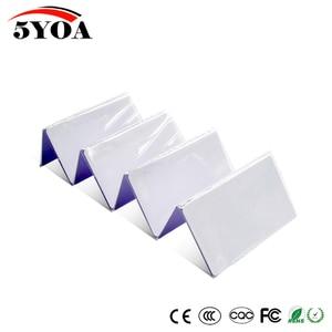 Image 2 - 50 piezas EM4305 T5577 duplicador de proximidad copia 125 khz RFID etiqueta llaveros llavero Porta Chave tarjeta pegatina clave Fob Token anillo