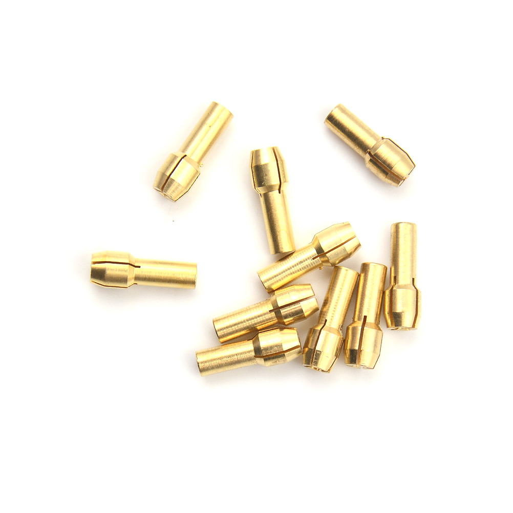 10pcs/Set Dia 0.5-3.2mm 4.3mm Shank Small Electric Drill Bit Collet Micro Twist Drill Chuck Set Whosesale