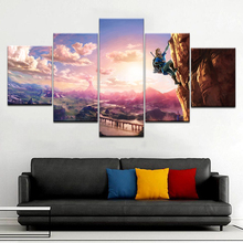 The game Legend of Zelda: Breath the wild wall posters canvas art painting 5 Panel HD Print For home living room decor