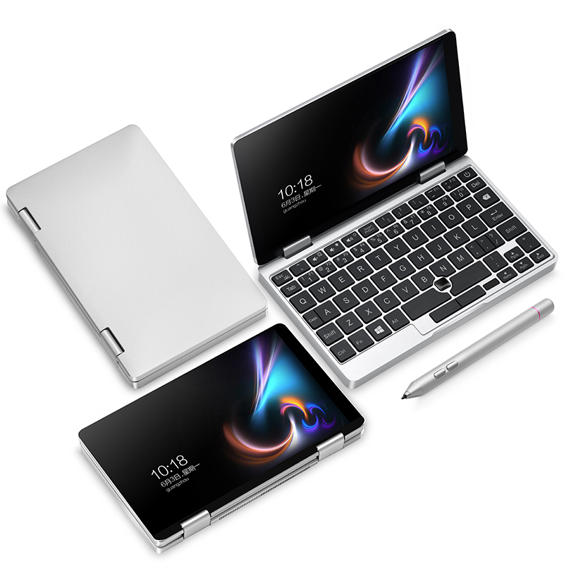 Original Licence Windows 10 One mix1S Pocket 7 Inch Mini Laptop UMPC Aluminum Shell CPU Intel Celeron 3965Y 8GB/128GB Silver