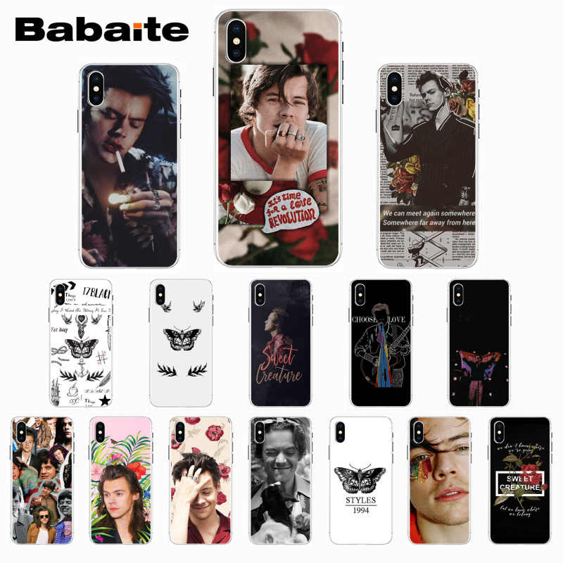 Babaite 1D Harry Stijlen Zwart Tpu Soft Phone Cover Voor Iphone 8 7 6 6S Plus X Xs Xr xsmax 5 5 S Se 5c Cover11 11pro 11 Promax
