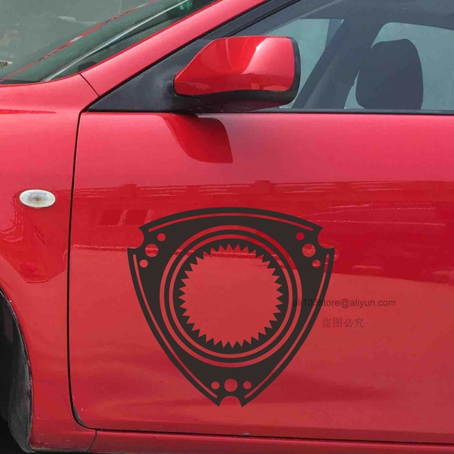 Rotary Engine Wankel Engine Car Decal Sticker Vinyl Fit For Mazda 3