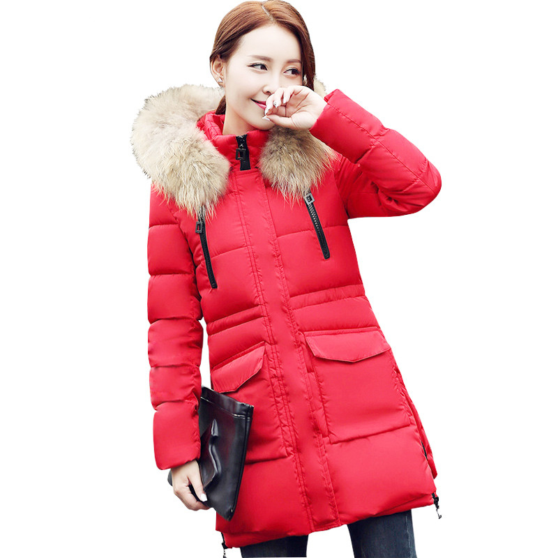 ФОТО  Womens Winter Jackets And Coats Thick Warm Women Parka 2016 Women Winter Jacket Female Down Cotton parkas Manteau Femme 16454