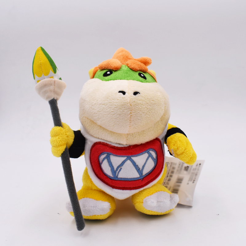 Free Shipping 17cm New Super Mario Bowser Koopa JR Soft Stuffed Plush Doll Baby Toy Christmas Gift For Children(China)