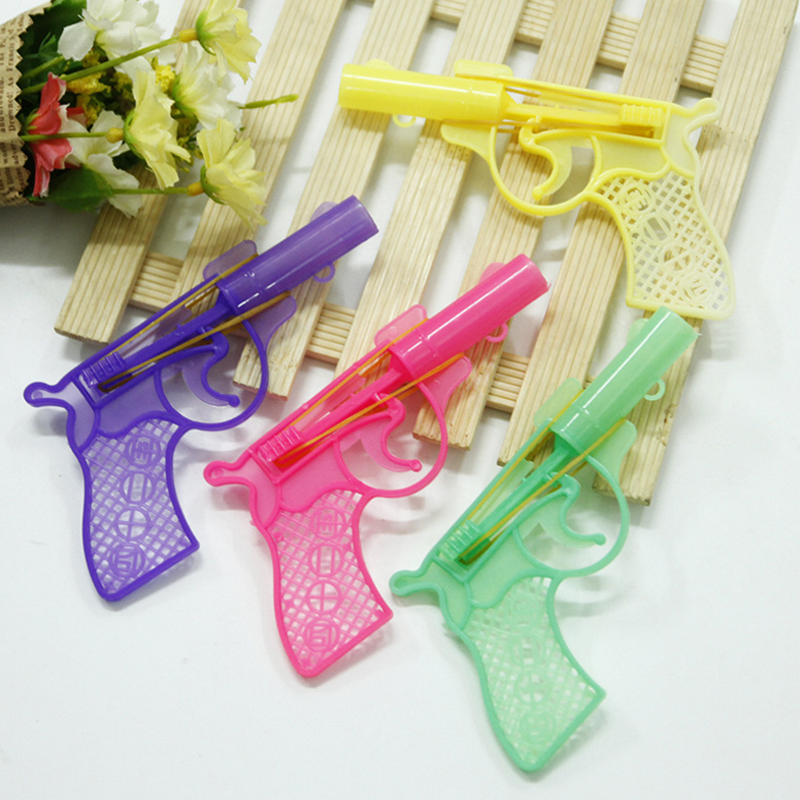 3 Pcs New rubber band pistol toy childrens toys Summer elastic childhood playing toys child childrens outdoor toys