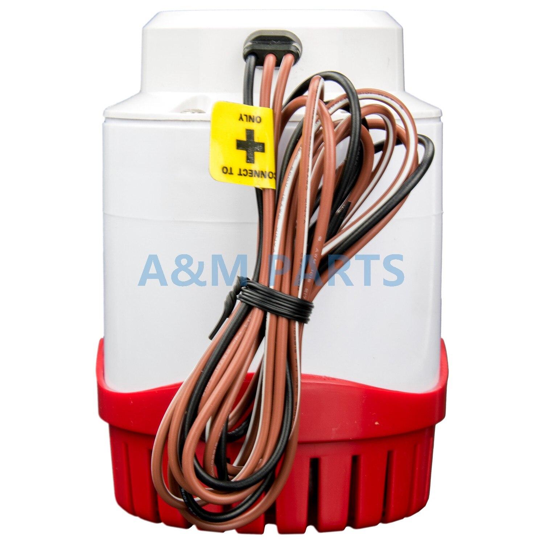 Pompe de cale automatique pour bateau 2000 GPH pompe à eau Marine 12V interrupteur à flotteur intégré - 3