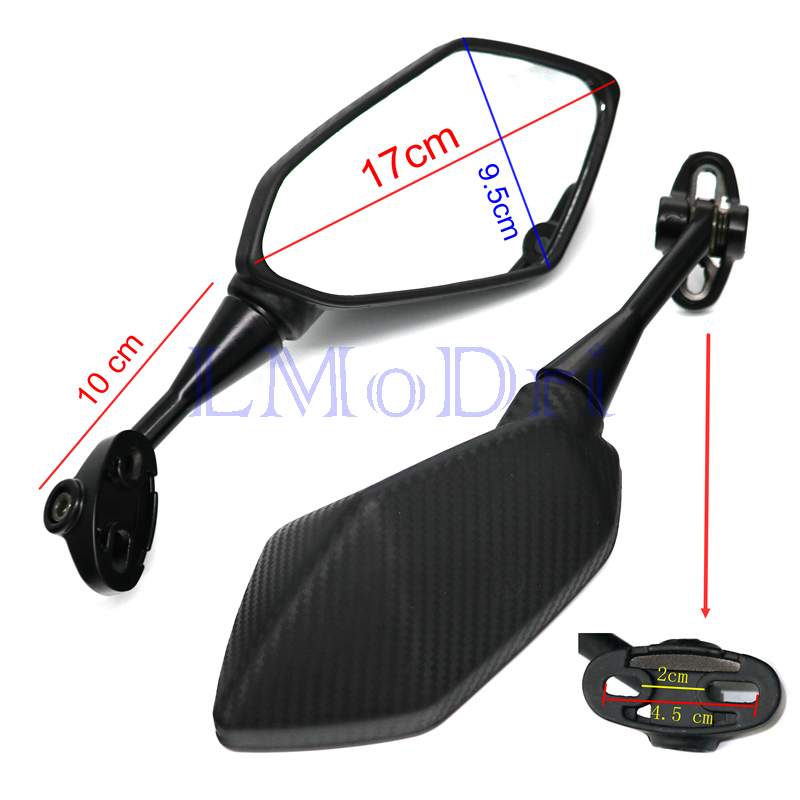 Image 2 - LMoDri Motorcycle Mirrors Racing Sport Bike Rear View Mirror For Honda CBR F4 F4i/RC51/ RVT1000 DD250E/300/350 HYOSUNG GT Carbon-in Side Mirrors & Accessories from Automobiles & Motorcycles