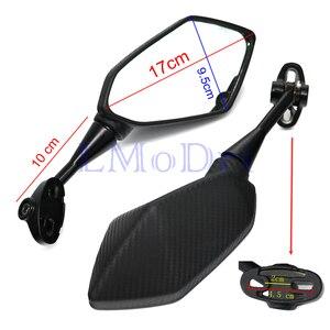 Image 2 - Motocykl LMoDri lusterka sporty wyścigowe rower lusterko wsteczne dla Honda CBR F4 F4i/RC51/ RVT1000 DD250E/300/350 HYOSUNG GT węgla