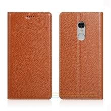Невидимый магнит натуральная кожа чехол для Xiaomi Redmi Note 4/Note 4×5.5 «Роскошный телефон раскладной стенд натуральной кожаный чехол