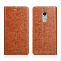 Invisible Magnet Genuine Leather Case For Xiaomi Redmi Note 4 Note 4X 5 5 Luxury Phone