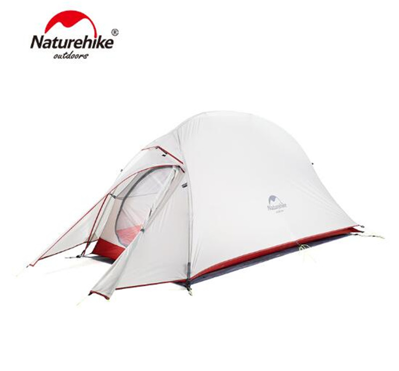 Naturehike Updated Version Cloud Up 1 Single Person Tent Outdoor Ultralight Camp Tents Hiking 210T/20D With Free Mat naturehike cloud up series 1 2 3 person camping tent outdoor ultralight camp hiking waterproof tent with free mat