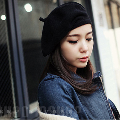 Winter Hats For Women Knitted Wool Pattern Hats Beret Warm Caps