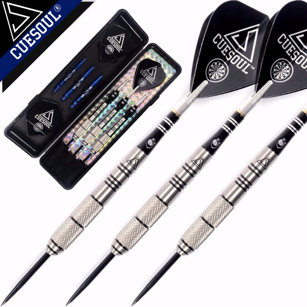 где купить CUESOUL Free Shipping 90% Tungsten 22g/24g/26g Steel Tip Tungsten Darts with Slim Case дешево