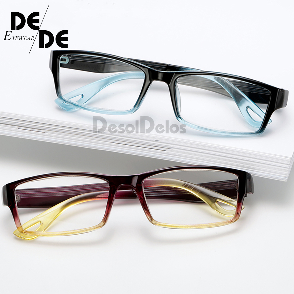 Fashion Unbreakable Reading Glasses Women Men Resin Transparent Spectacles Vintage Round Reading-glasses