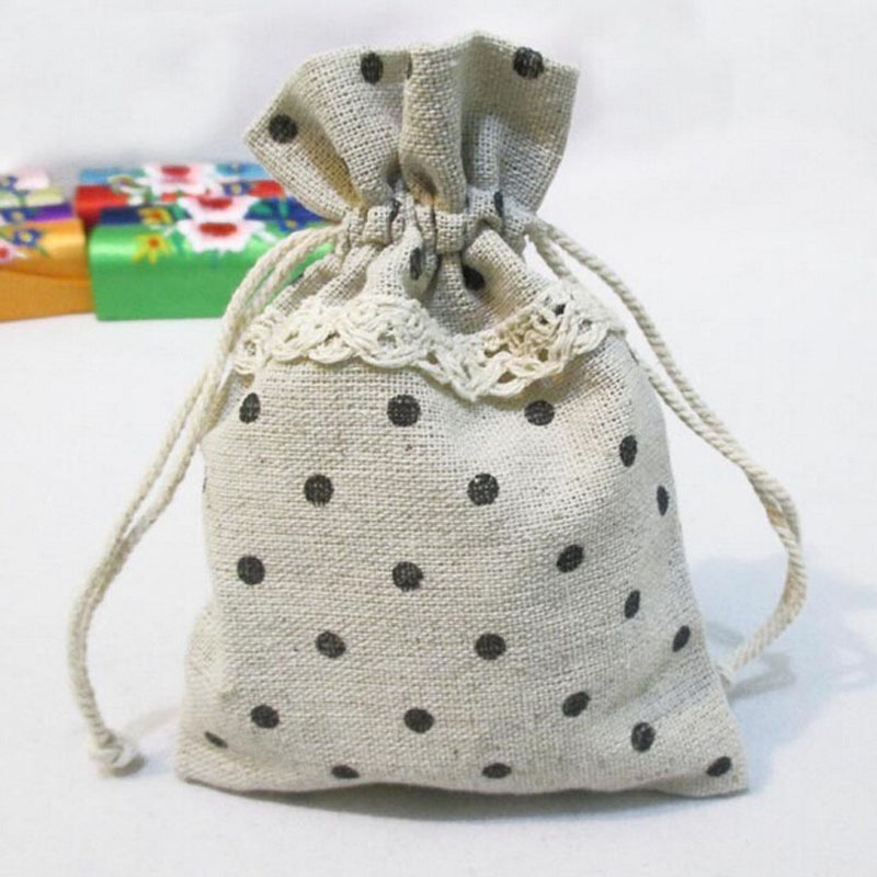 500PCS 9.5x13cm Small Burlap Linen Jute Sack Pouch Bag Drawstring Jewelry Gift Beads Wedding Favor Candy Chocolate Bags ZA1398