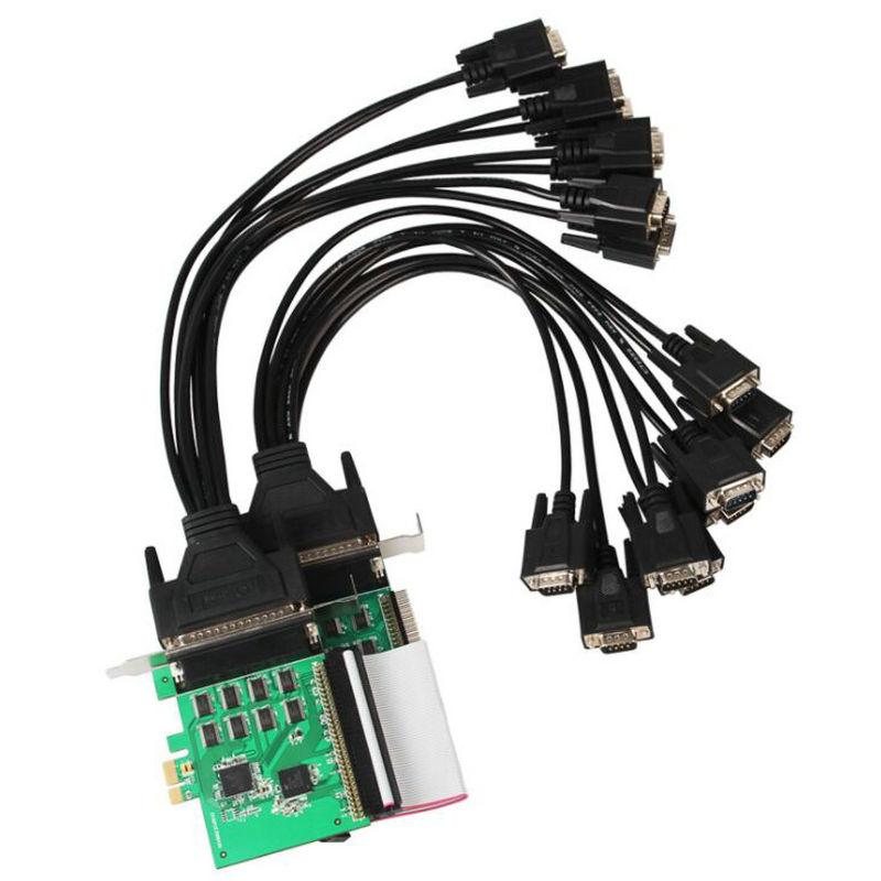 Carte contrôleur série rs232 PCIe PCI Express 16 Ports avec câble de sortie ventilateur