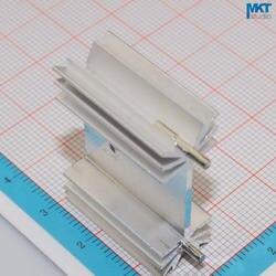 100 Шт. Plum-Тип 35 мм х 12 мм х 25 мм Чистый Алюминий Охлаждения Fin Радиатора Теплоотвод