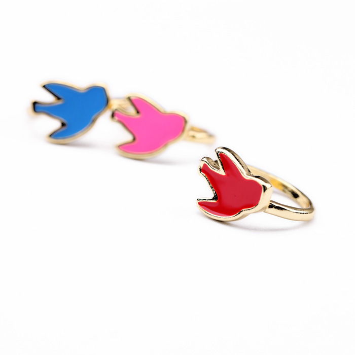 Bulk Price New Life Colourful Resin Bird Rings For Sale