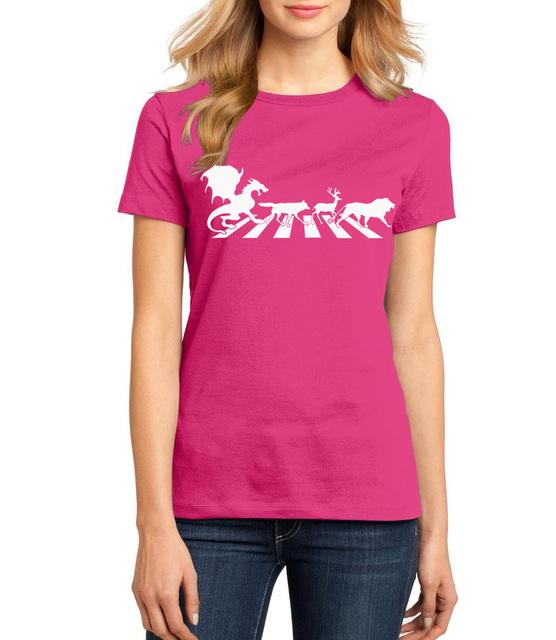 Game of Thrones Stark Targaryen Baratheon 100% Cotton Short Sleeve Women's T Shirt