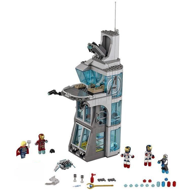 LEPIN 7114 Marvelly Super Heroes Aegis Bureau Headquarters Attack On Tower 76038 Building Block Toys For Children Gift Legoingse aegis