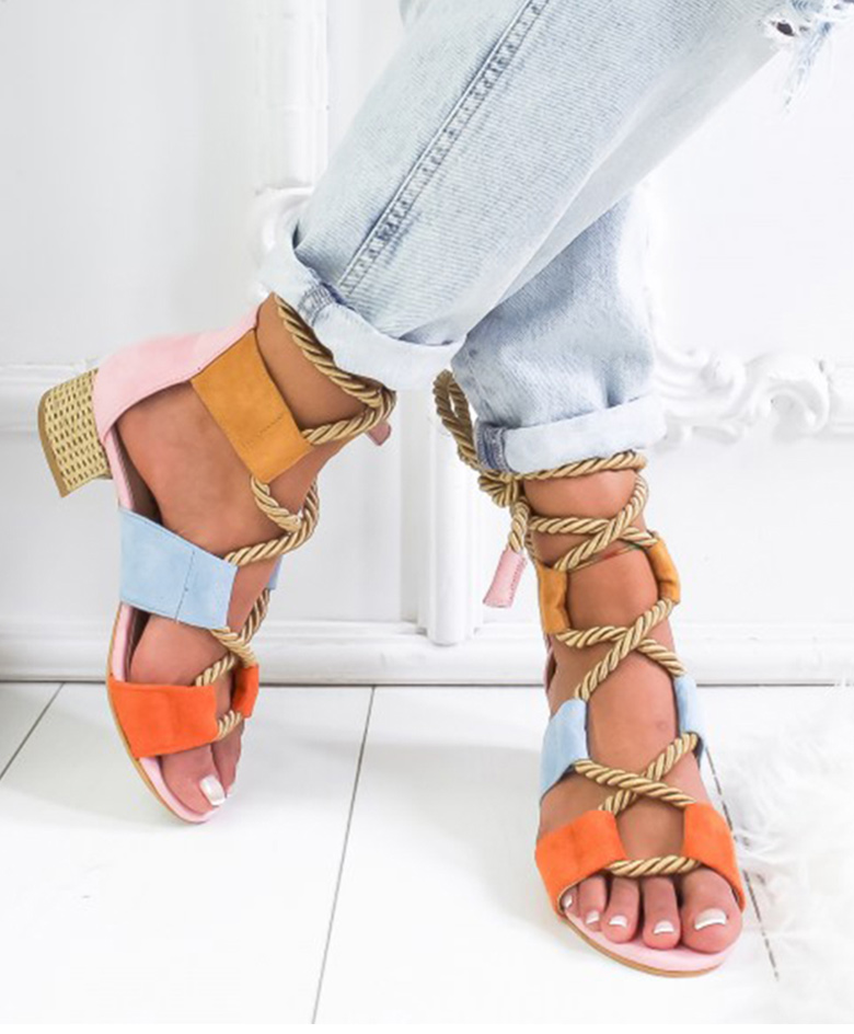 HTB1bKaUaRiE3KVjSZFMq6zQhVXaR Women Sandals 2019 Women Heels Shoes For Gladiator Sandals Women High Heels Summer Shoes Woman Lace Up Peep Toe Chaussures Femme