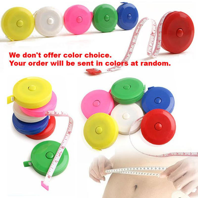 Creative Colorful 150CM Roulette Measuring Tape Measure Retractable Ruler Centimeter Inch Children Height Ruler