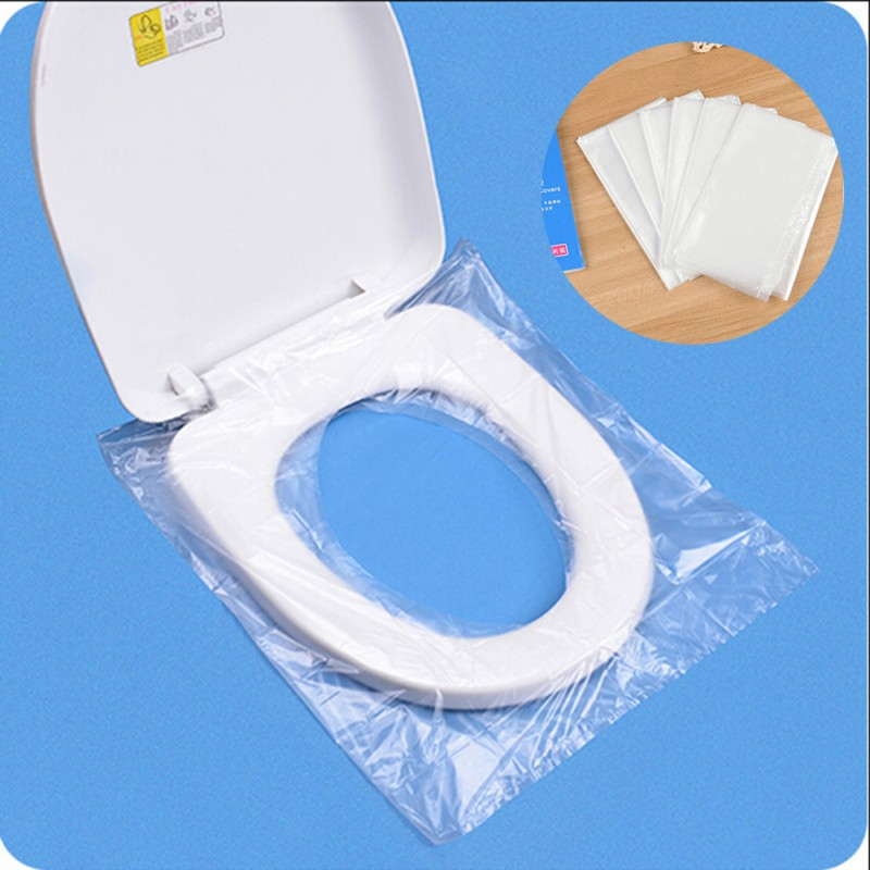 6pcs Set Travel Disposable Toilet Seat Cover Wc Mat 100