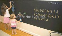 Wall Title Sticker Blackboard Film Top Grade Chalkboard Wall Sticker Vinyl Decal Wall Decals Removable DIY free shipping