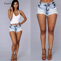 2017 Nueva Poliéster Algodón Mediados de Pantalones Cortos de Jeans Para Mujer de Marca de Moda de La Vendimia Floja de Talle Corto Jeans Sexy Mujer Caliente Pantalones Cortos